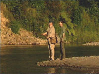 Cleaver and Jess Fishing