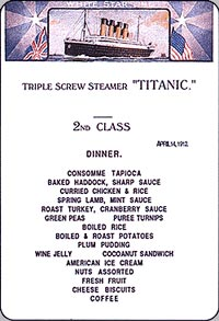 The Titanic The Meals Revelations The Initial Journey